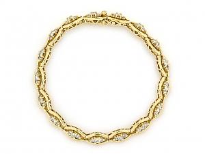 Diamond Bracelet in 18K Gold