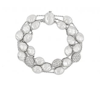 Marco Bicego 'Siviglia' 3 Strand Bracelet in 18K White Gold