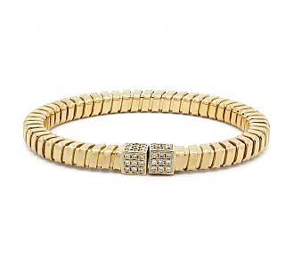 Diamond Tubogas Bracelet in 18K Gold, by Beladora