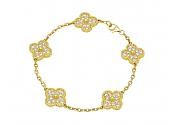 Van Cleef & Arpels 'Vintage Alhambra' Diamond Bracelet in 18K Gold