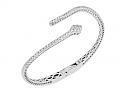 Diamond Snake Bangle in 18K White Gold