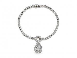 Hammerman Brothers 'Les Boules' Diamond Bracelet in 18K White Gold