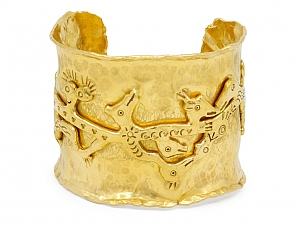 Jean Mahie Charming Monsters Cuff in 22K Gold