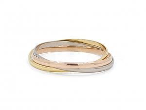 Cartier Trinity Bangle Bracelet, Medium Model