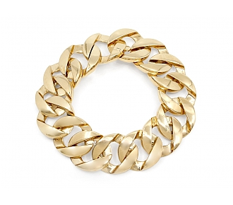 Curb Link Bracelet in 18K Gold, Small, by Beladora