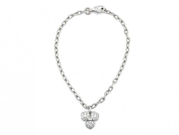 Tiffany 'Petal' Diamond Flower Bracelet in Platinum, Medium Size