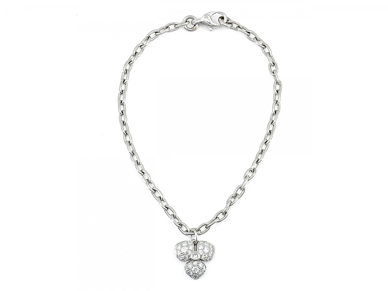 Video of Tiffany 'Petal' Diamond Flower Bracelet in Platinum, Medium Size