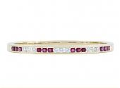 Ruby and Diamond Bangle Bracelet in 18K Gold