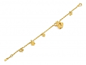 Bear with Honeypot Charm Bracelet in 24K Gold