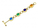 Elizabeth Locke Venetian Glass Intaglio Bracelet in 18K Gold