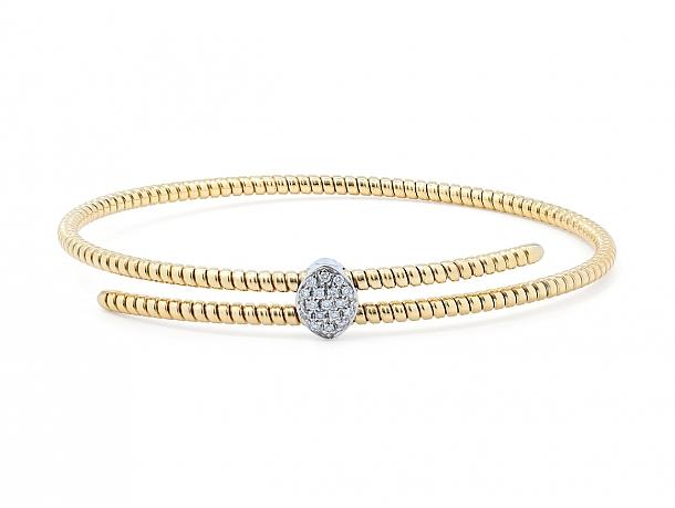 Tubogas Slide Bracelet in 18K Gold, by Beladora