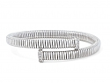 Tubogas Bypass Bracelet with Nail Head Terminals in 18K White Gold, by Beladora