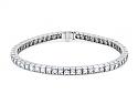 Art Deco French-cut Diamond Line in Platinum