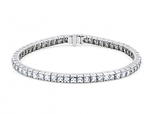 Art Deco French-cut Diamond Line in Platinum