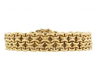 French Link Bracelet in 18K