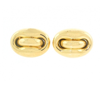 Italian Gold Button Style Cufflinks in 18K
