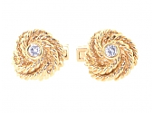 Charles Gold & Co. Diamond Knot Cufflinks in 18K