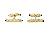 Charles Gold & Co. Bar Sapphire Cufflinks in 18K
