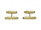 Charles Gold & Co. Bar Emerald Cufflinks in 18K