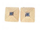 Sapphire Cabochon Cufflinks in 18K