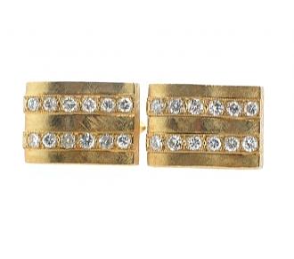 Diamond Cufflinks in 18K