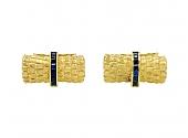 Sapphire Bar Cufflinks in 18K