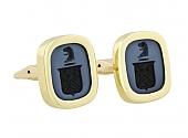 Family Crest Cufflinks in 18K Gold