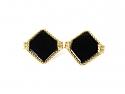 Charles Gold & Co. Black Onyx Cufflinks in 14K
