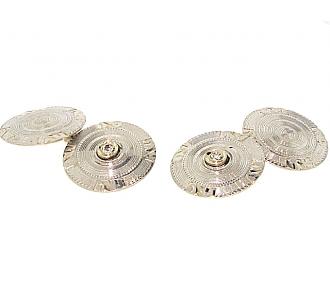 Art Deco Diamond Cufflinks in Platinum