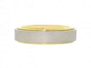 Two-Tone Band in Platinum and 18K
