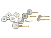Art Deco Mother-of-Pearl Dress Set in 14K Gold
