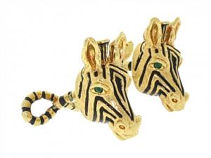 Zebra Cufflinks in 18K