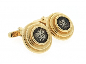 Bulgari Ancient Coin Cufflinks in 18K