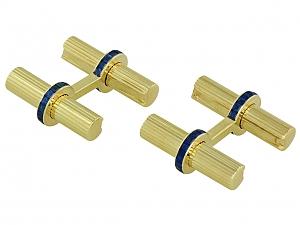 Van Cleef & Arpels Sapphire Cufflinks in 14K Gold