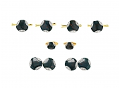 Art Deco Bloodstone and Diamond Dress Set in 18K and 14K Gold