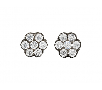 Antique Paste Stone Shirtstuds in Silver