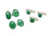 Emerald Dress Set in Platinum