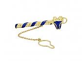 David Webb Ram's Head Enamel Tie Bar in 18K Gold