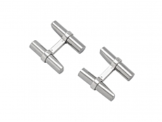 Cartier Cufflinks with Multi-Gemstone Batons in 18K White Gold