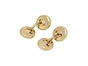 Mother-of-Pearl and White Enamel Cufflinks in 14K Gold