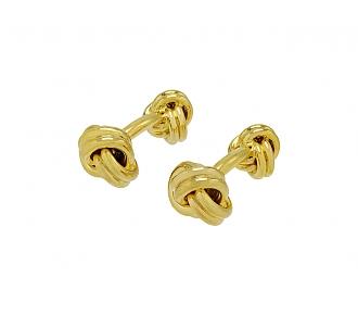 Knot Cufflinks in 18K Gold