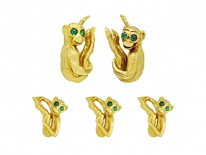 David Webb Monkey Dress Set in 18K