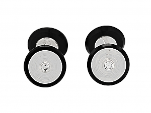 Van Cleef & Arpels Diamond and Onyx Cufflinks in 18K Gold and Platinum