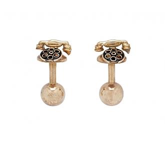 Rotary Phone Cufflinks in 14K Gold