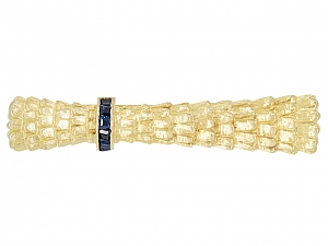 Cartier Sapphire Tie Bar in 18K Gold