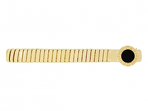 Bulgari Onyx Tie Bar in 18K Gold