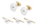 Mother-of-Pearl Dress Set in 14K Gold