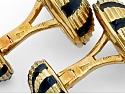 Tiffany & Co. Schlumberger 'Taj Mahal' Black Enamel and Diamond Dress Set in 18K Gold