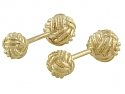 Knot Cufflinks in 14K Gold