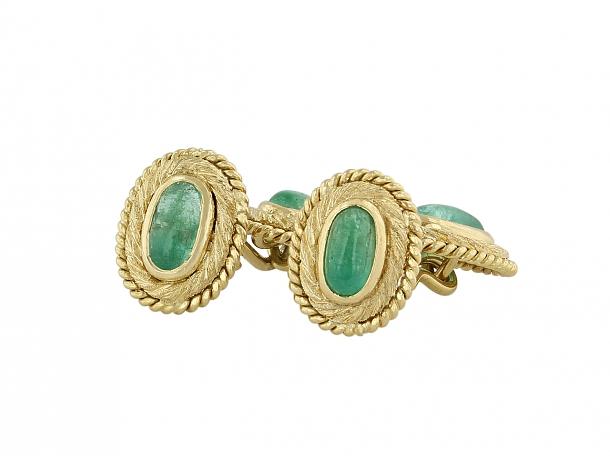 Emerald Cufflinks in 18K